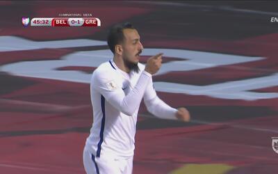 Mitroglou sorprende a Bélgica y marca el primero para Grecia