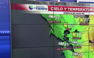 Temperaturas por debajo de lo normal y cielos parcialmente nublado