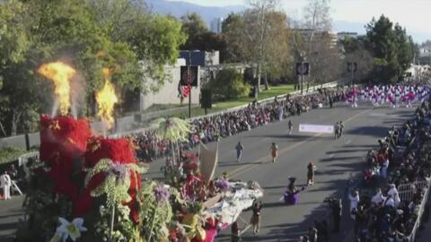 Así van los últimos preparativos para el Desfile de las Rosas de Pasaden...