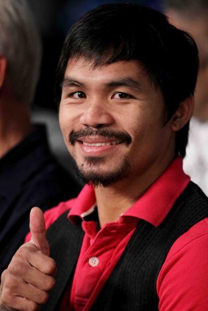 Manny Pacquiao no perdió la oportunidad de asistir el inmueble be...