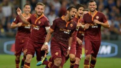 Los romanos superaron a la Sampdoria como visitantes.