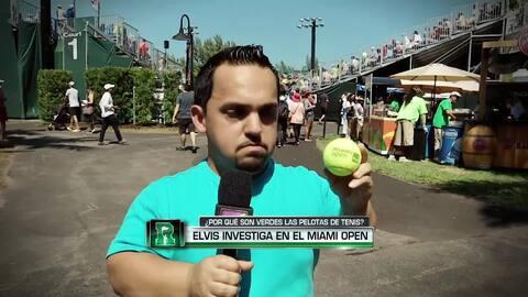 Elvis fue al Miami Open a investigar por qué las pelotas de tenis son pe...
