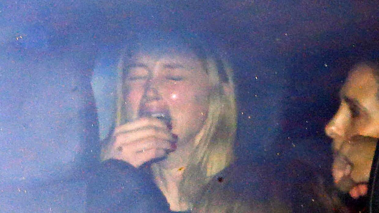 Amber Heard llorando