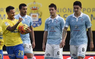 Las Palmas gana de último minuto al Celta