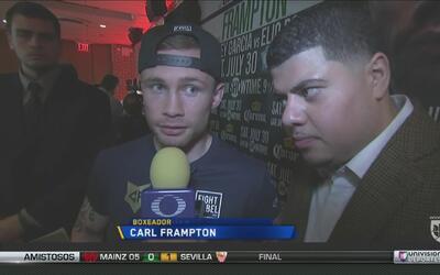 Carl Frampton se siente listo para vencer a Leo Santa Cruz
