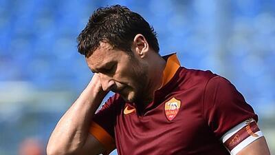 Totti se lamenta el resultado sacado ante Atalanta.