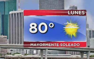 Inicia una semana de cielo despejado y temperaturas agradables en Miami