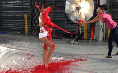 Lo que no viste del reto de pintura con las chicas de NBL VIP