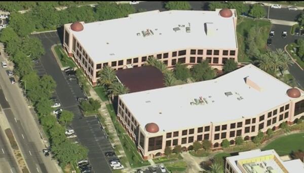 Vista aérea de lugar del tiroteo de San Bernardino.