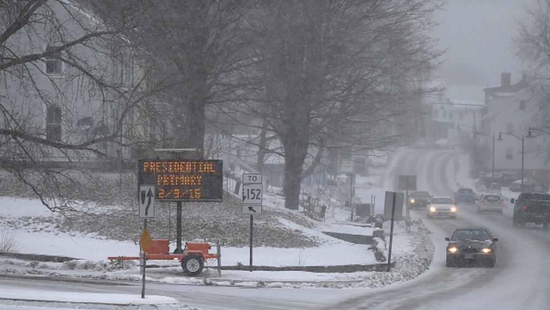 rutas nevadas en New Hampshire