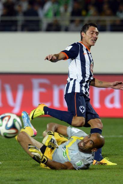 Neri Castillo también tuvo la oportunidad de marcar pero no tuvo...