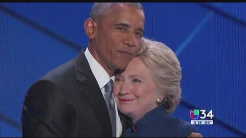 Clinton y Obama afirman su alianza en la Convención Demócrata