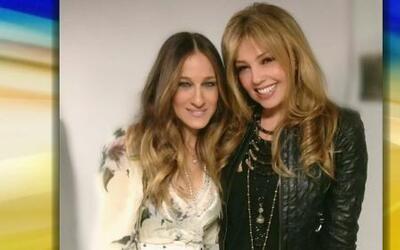 Thalía al fin se tomó una foto con Sarah Jessica Parker