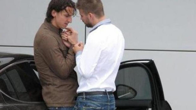 La polémica foto de Piqué con Zlatan
