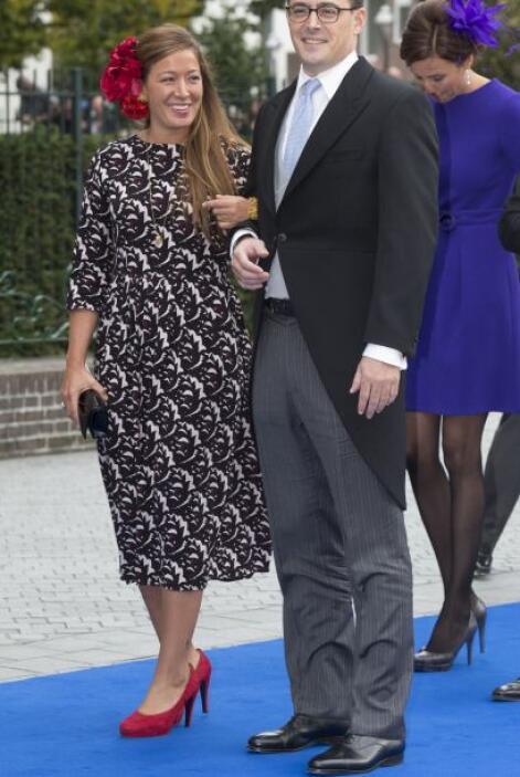 Juliana Guillermo, hija de la princesa Christina, eligió contrastar su v...