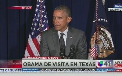 Obama y Perry discuten problema migratorio