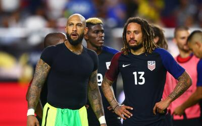 Time Howard y Jermaine Jones con la seleccion de EE.UU.