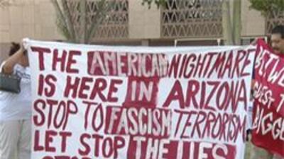 Imagen de una de las protestas.