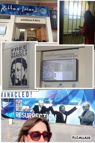 Visitaron la cárcel donde estuvo preso Nelson Mandela.