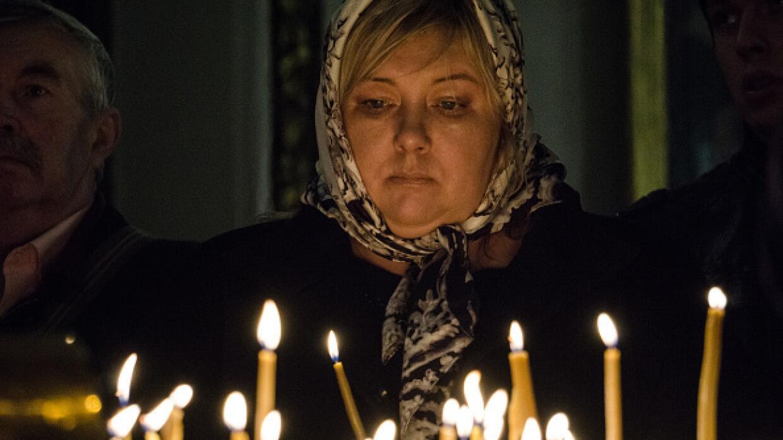 Homenaje y dolor en San Petersburgo