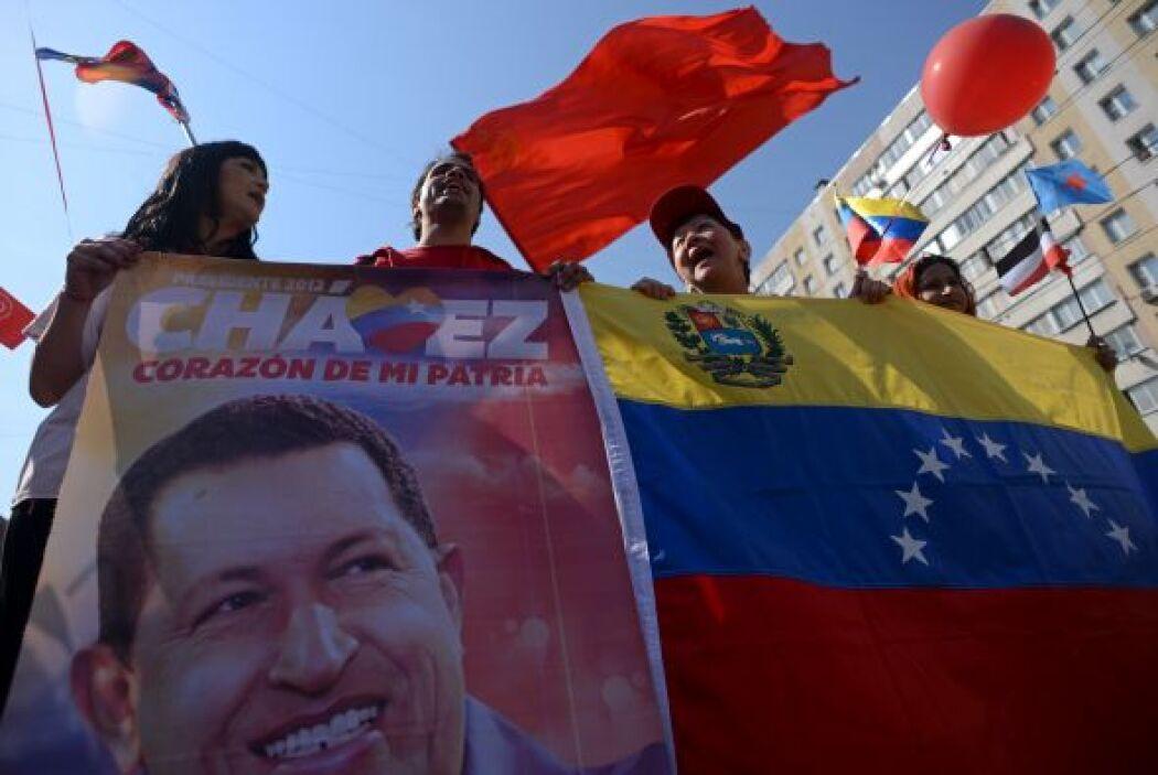 Los seguidores de Maduro confluyeron en la plaza principal de Caracas, p...
