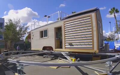 Estudiantes de ingeniería en California crearon casas utilizando energía...