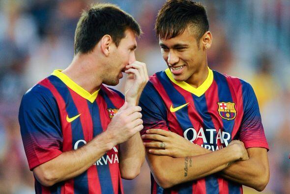 Buena comunicación un muchas risas entre los dos astros del Barce...