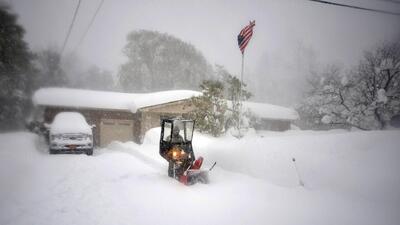 Fuertes nevadas en gran parte del país en este Día de Gracias