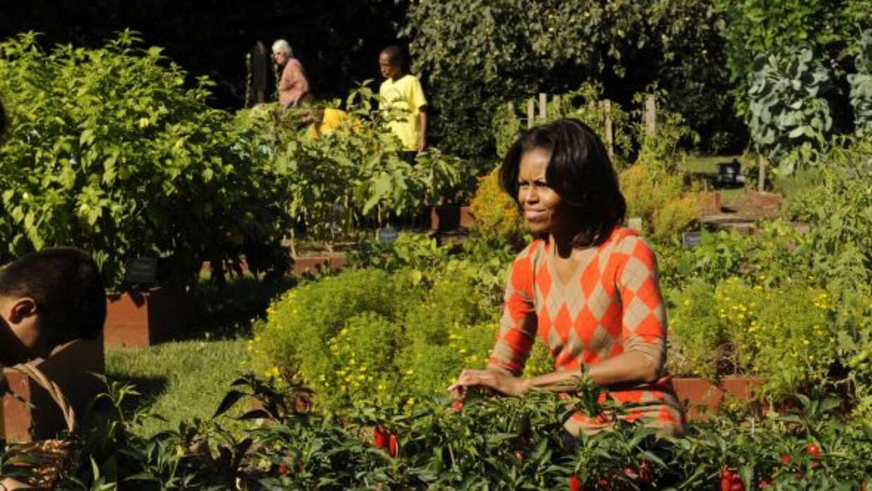 La primera dama estadounidense, Michelle Obama, se pone al frente de los...