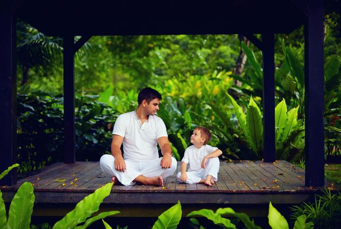 Enseñar a meditar con ejemplo