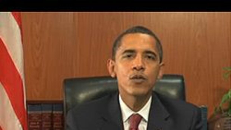 Obama dijo por YouTube que la crisis es el mayor desafío de nuestros tie...