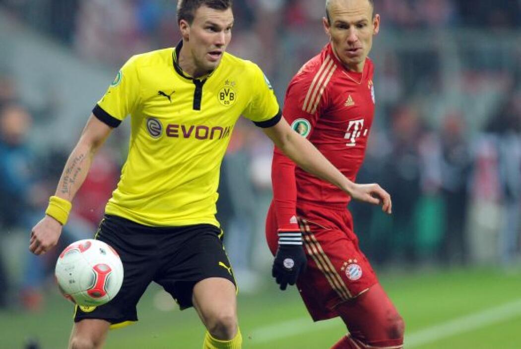 El Borussia fue el que más dificultades tuvo para alcanzar las semifinal...