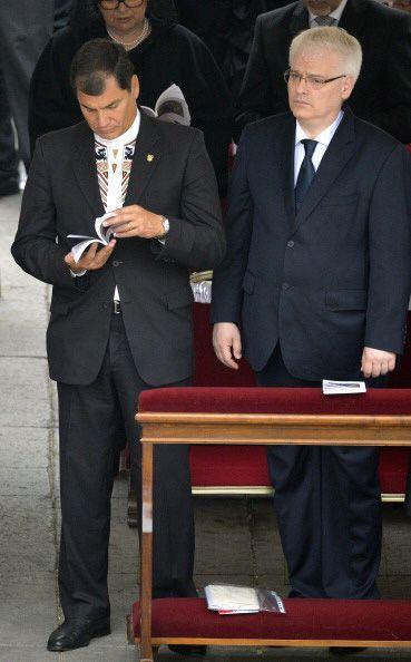 El presidente de Ecuador, Rafael Correa, estuvo presente.