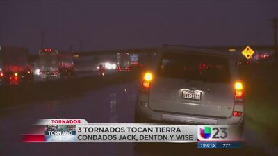 Tres tornados tocaron tierra en Texas