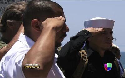 Desde Tijuana, México, veteranos deportados rindieron homenaje a los 'ca...