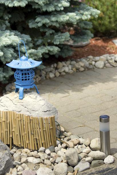 En muchos jardines zen, hay sólo tres o cuatro especies distintas, de ac...