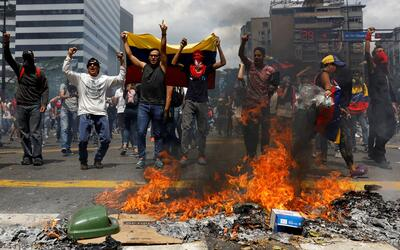 Rally against Venezuela's President Nicolas Maduro's government in Carac...