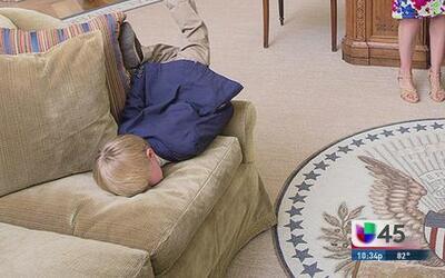 Niño la pasó muy mal en la Casa Blanca