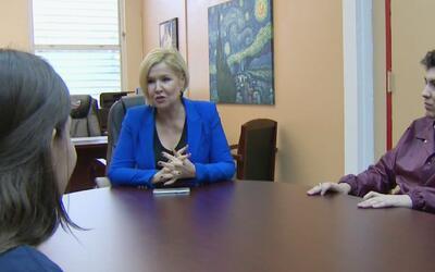 Sandra Peebles fue directora de la escuela Miami Springs por un día