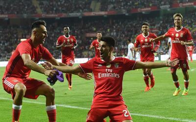 Benfica superó 3-0 al Braga