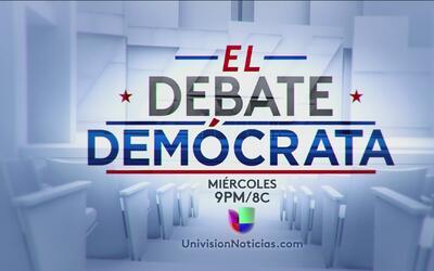 ¿Qué se espera para el debate demócrata?