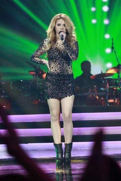 Paloma Carrasco en su primer número de la noche.