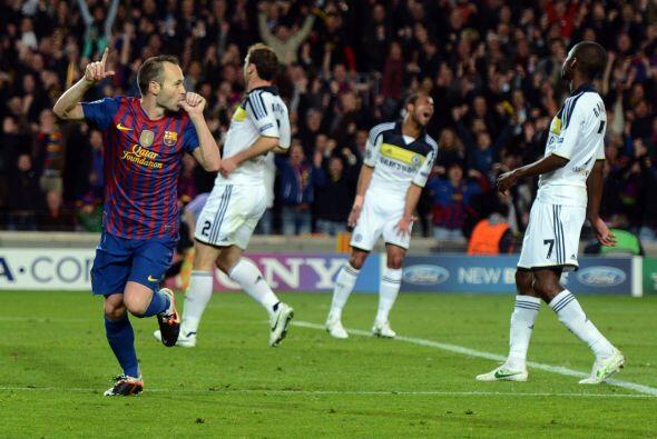 Iniesta puso el 2 a 0 a favor del Barcelona con una definición con clase.