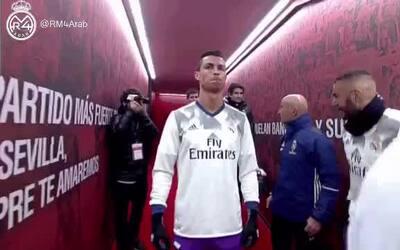 "Ronaldo imita gesto de ""Ironman"" previo al duelo ante Sevilla"