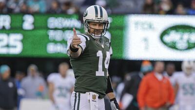 Jets 38-20 Dolphins: Ryan Fitzpatrick brilló con cuatro pases de TD para...