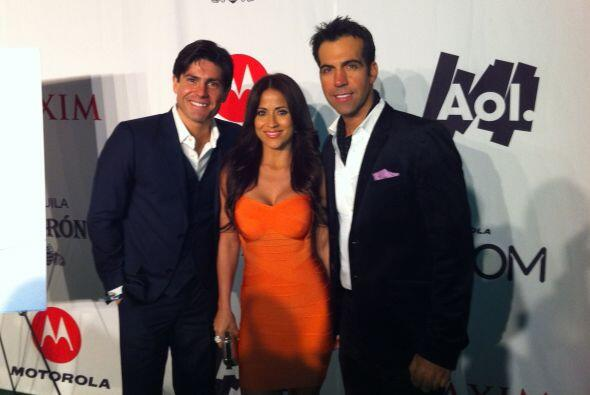 Allí compartió con Jackie Guerrido y Felipe Viel.