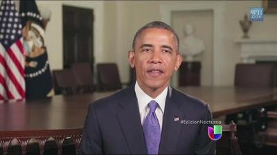 El presidente Barack Obama felicitó a los padres por su día