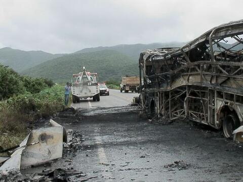 Trágico accidente en una carretera del suereño estado de O...