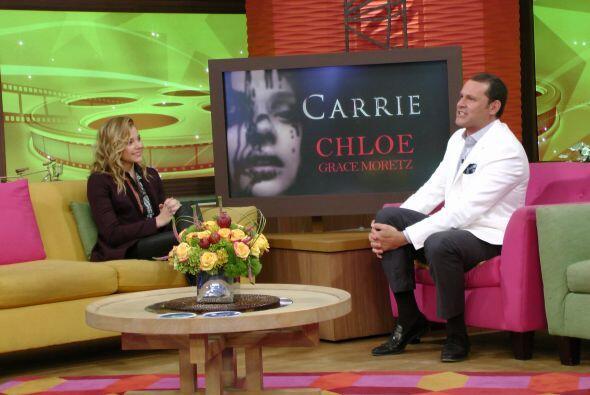 Cloe habló sobre su nueva película, 'Carrie', una nueva adaptación de la...