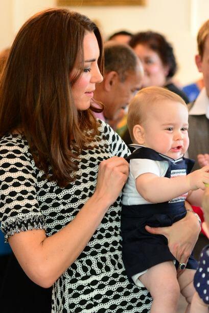 Durante la visita oficial de sus padres a Nueva Zelanda, George ha tenid...